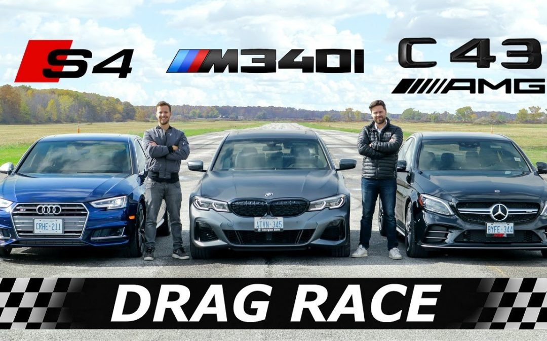 2020 BMW M340i vs Audi S4 vs Mercedes-AMG C43 // DRAG & ROLL RACE